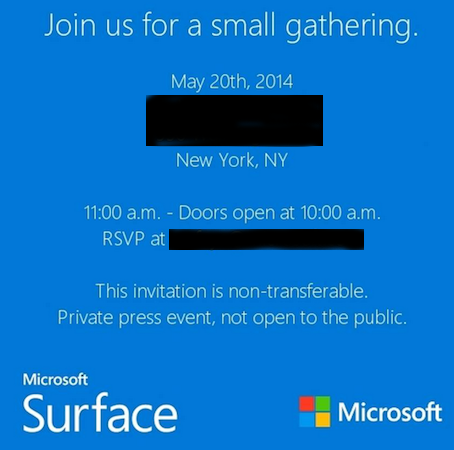 "Microsoft To Hold ""Small"" Surface Event On May 20"